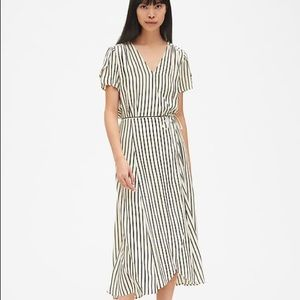 NWOT Striped Wrap Dress
